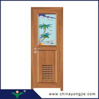 China new design frosted glass bathroom door fiber shower door