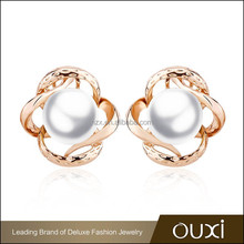 2015 OUXI Fashion Pearl Earrings made in china 21039-2