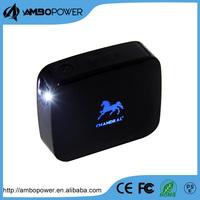 emitting logo external power bank 5200mah with led torch