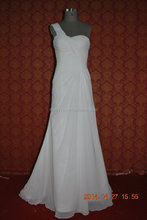 (MY0022) Marry You One Shoulder Flowing Chiffon Mother Of The Bride Beach Wedding Dress