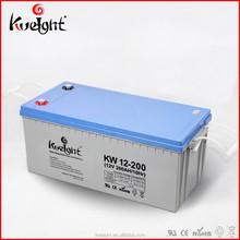 Kweight Best seller agm Solar battery 12v 200 ah