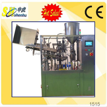 one-stop service HTGF-80 automatic plastic or alu-plastic toothpaste tube filling machine