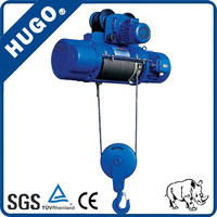 Medical hoist with wire rope