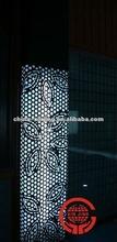 Leaves pattern aluminum screen wall panel