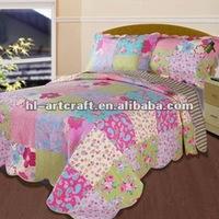 Purple Patchwork Cotton Hand Made Quilt TX-11071