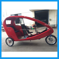 electric assisted passenger three wheel bicycle