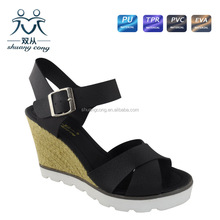 2015 girl dress open toe platform high heel wedge party sandal and shoes