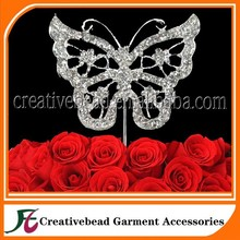 Cake Accessory In Wedding Rhinestone Cake Topper With Butterfly Cake Topper For Wedding Decorations