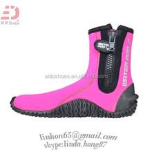 Women's red High Rubber/Neoprene Boots