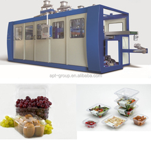 APT-78B Automatic Four Station PET Fruit Container Thermoforming Machine for cherry,tomato,strawberry