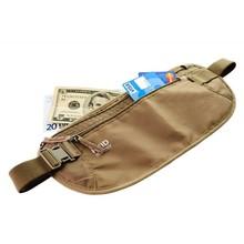 Travel passport running riding security waist bag pouch money belt