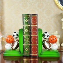 Wholesale Ball Bookends For Home Decor Desk Decor With Volleyball Basketball Soccer Football