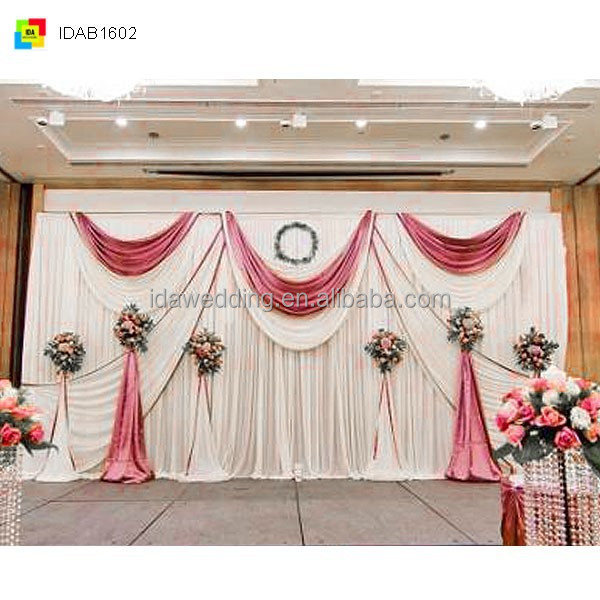 Led curtains for stage backdrops made of100 polyester for Background curtain decoration