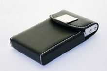 Promotional gift pu leather metal name card holder Professional business pu card case