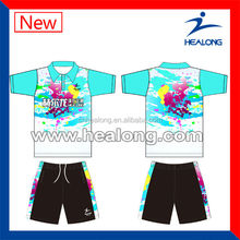 Colorful sublimation 100%polyester bowling uniform