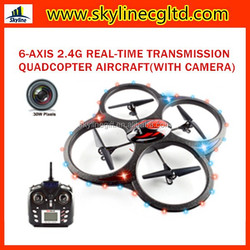 4CH 2.4G Real-time Transmission rc quadcopter,6-axis real time WIFI connection video camera rc drone