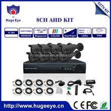Best quality 720P AHD camera 8 channel DVR KIT
