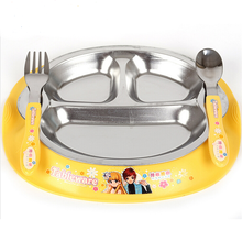 Stainless steel tray kids Children's snack plate