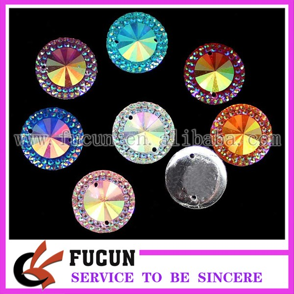 13mm 18mm various color round babysbreath resin stone .jpg