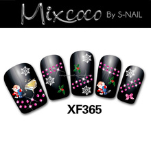 2015 fashion & hot selling Christmas nail design christmas 3d nail art