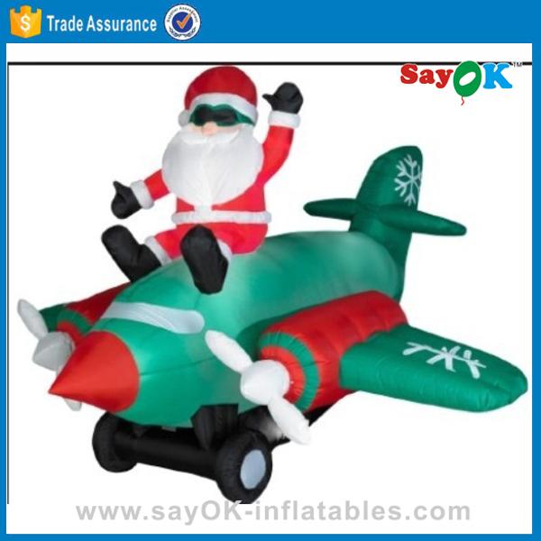 inflatable christmas santa airplane giant christmas inflatable