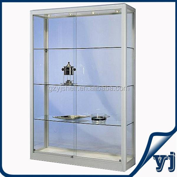 196.jpg  sc 1 st  Alibaba & Aluminium Glass Rotating Display Case/wall Unit Display Cabinet/wall ...