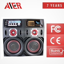 Aier China Wholes Single 6 inches high power portable bank outdoor stage good desigin active subwoofer led bluetooth speaker