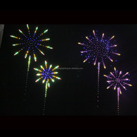 led heart shape firework , led logo firework light with twinkle star and shooting star together