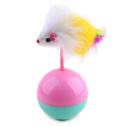 Feather Cat Toys Tumbler Ball Wholesale New Products 2015 Pet Accessories Cat Products
