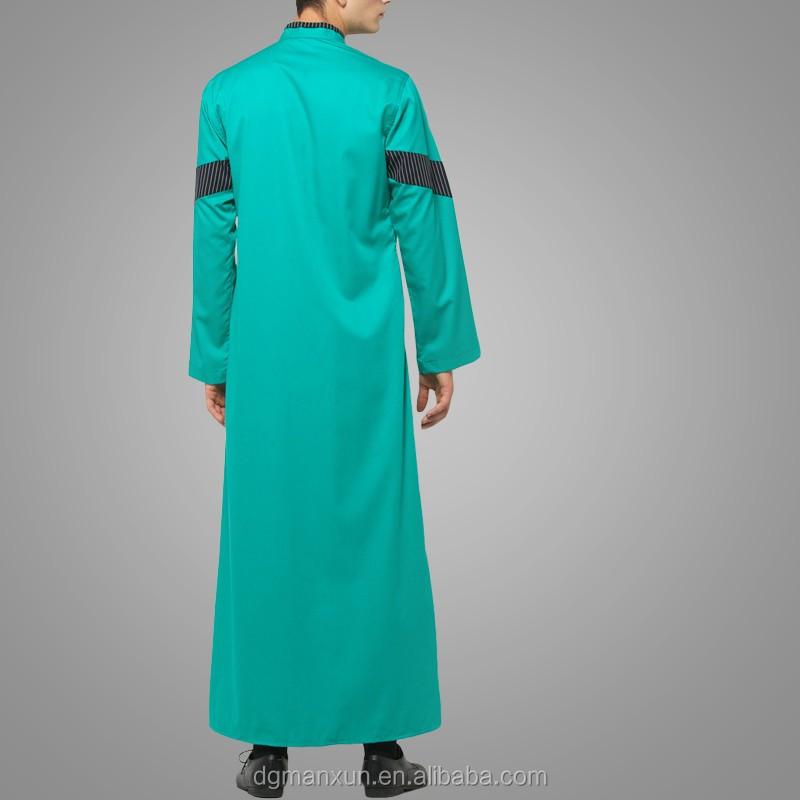 dgManxun Muslim High Quality Men Arab Thobe Wholesale Men Saudi Thobe  Awwal Thobe Fly Series Green (5).jpg