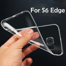 silicone phone case transparent TPU Case for samsung galaxy S6 edge