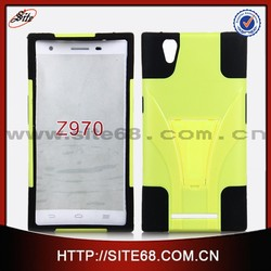 Dual Layer Hybrid Cell Phone Silicone PC Combo Cover Case for ZTE Z970