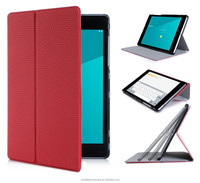 Ultra Slim Lightweight Premium PU Leather Smart Cover Multi-Angle Stand Case for Google Nexus 9 Red (With Auto Wake/Sleep Featur