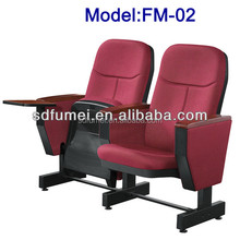 FM-02 Folding Theater Auditorium Seating Chair With Writing Pad