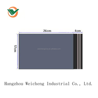 170mmX300mm self adhensive waterprooof black grey recycle plastic mailing bag with cheap price