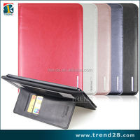 100% in stock promoting wallet pu leather case for ipad air