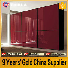 high glossy red colors wardrobe