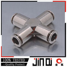 made in China X pneumatic quick brass cross fitting/ pex pipe joint