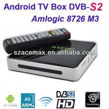 Android HD Google TV Box DVB-S2,PVR, XBMC Preinstalled,1080P Full HD,WIFI Build in,ARM Cortex A9, IPTV