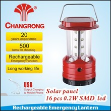 emergency solar lights camping lights with 16pcs super bright led factory model CR-8037TPS-2