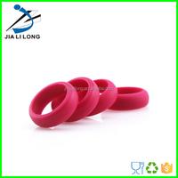 Custom new design ladies silicone finger ring