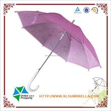 romantic pink flower rain 3D transparent umbrella