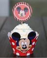Vermelha bonito mickey mouse papel impresso invólucros cupcake& toppers pega decoração para crianças baby aniversário de casamento artigos para festas
