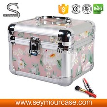 Beautiful colourful aluminum acrylic cosmetic case