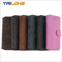 Leather mobile phone flip case for apple iPhone