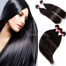 100 Human Hair 3 Bundles 7A Unprocessed Peruvian Virgin Human Hair Weave