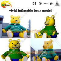outdoor giant inflatable cartoon bear model for advertising