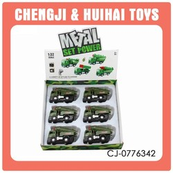 Funny mini pull back child diecast military vehicles with light and music