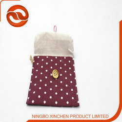 Fresh wave of dot cotton and linen napkins reception packages, sanitary napkin bags, cloth cute sanitary bags