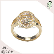 Factory Price Real 925 Sterling Silver Diamond Sun Ring